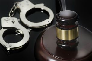 handcuffs and gavel